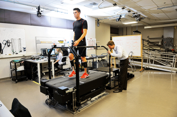 Researchers in the College have worked with colleagues at Carnegie Mellon University to create an unpowered exoskeleton that adds an extra spring to each step a person takes and modifies the structure of their ankles.