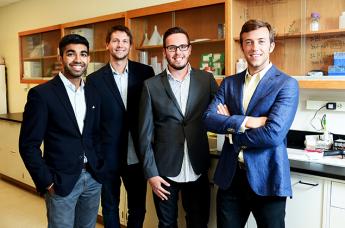 From left, Ankesh Madan, Stephen Gray, Tasso Von Windheim and Tyler Confrey-Maloney
