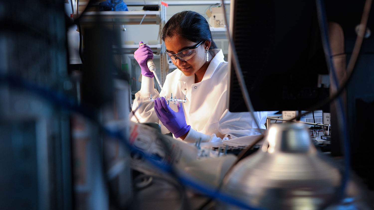 Biomedical engineering doctoral student Vindhya Kunduru had no idea she was going to become an expert on Salmonella, bacterial infections and chickens.