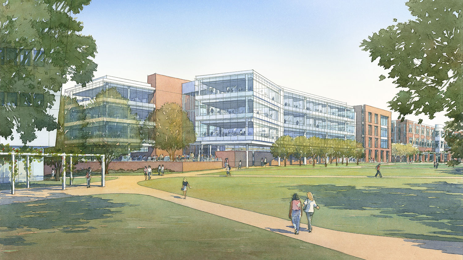 Architect's rendering of the future Fitts-Woolard Hall
