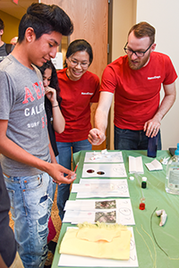 Local students got a closer look at nanotechnology and the College of Engineering during NanoDays on April 20.