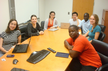 The visit gave Eneku a chance to interact with NC State students who are SciBridge volunteers.