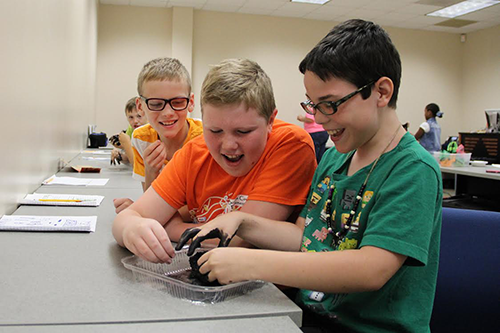 Campers attend Burke Engineering Camp in Morganton, NC.