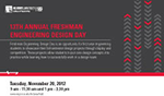 2012 Freshman Engineering Design Day Postcard