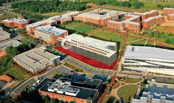 Graphic showing proposed Engineering Building Oval with other Engineering Buildings