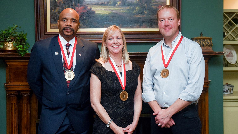 From left, Leodis Jennings, Pamela Townsend and Jason Rhode