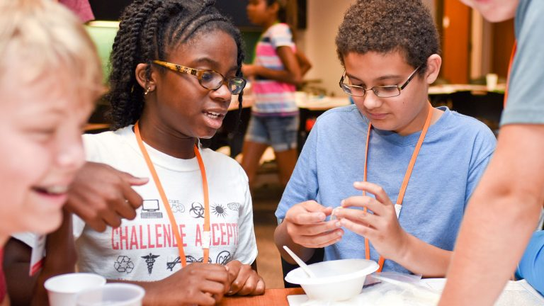 Students participate in Middle School Summer Camp