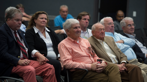 Alumni listen to presentations.