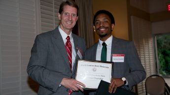 Terence Chandler, a senior in mechanical and aerospace engineering, received the Senior Award for Service and Citizenship.