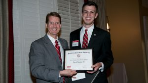 Paul Nolan, a senior in materials science in engineering and political science, received the Senior Award for Leadership.