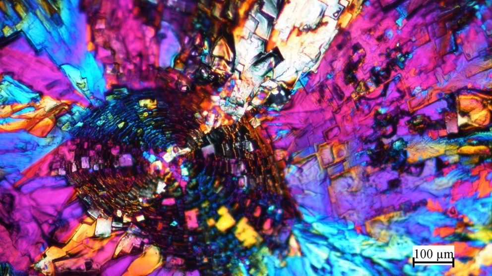 """Rich Spontak's """"The Fingerprint of Molecules"""" won first place for faculty in the microscopy category."""