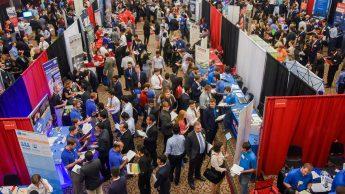 Image of crowd at Engineering Career Fair
