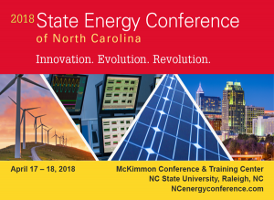 2018 State Energy Conference of North Carolina, April 17-18, McKimmon Center