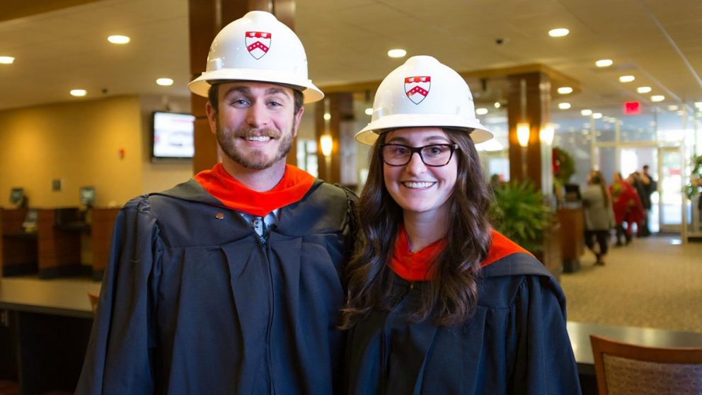 As co-workers, Jonathan Holtvedt and Lauren McCauley partnered up to complete their master's degrees online in just two years.