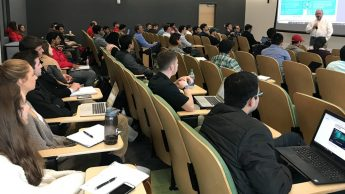 About 70 students and faculty members attended the blockchain training day presented by the Carolina Fintech Hub