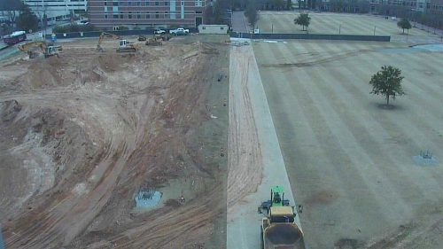 Scree shot of EB Oval Construction webcam