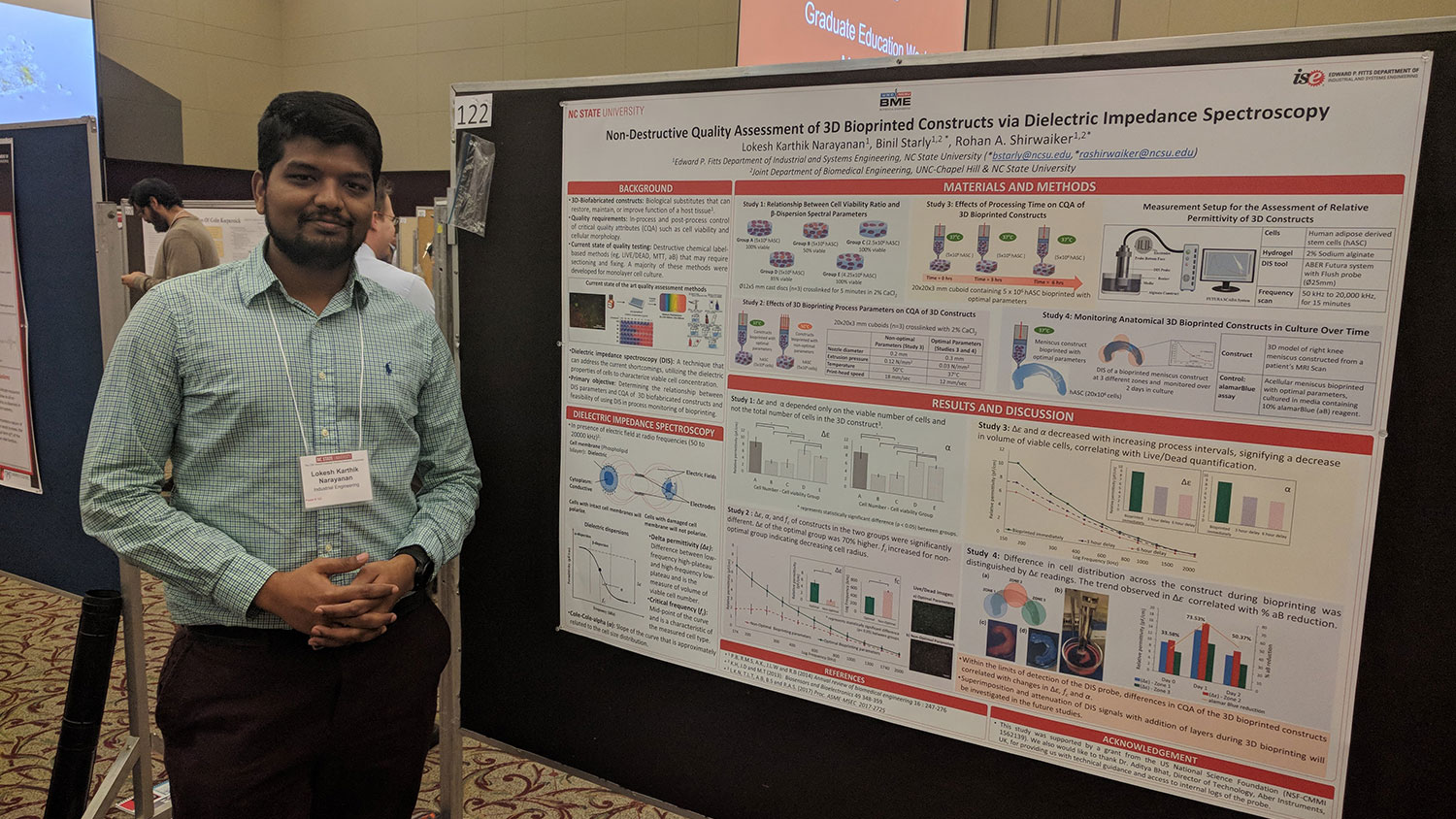 image of Lokesh with poster