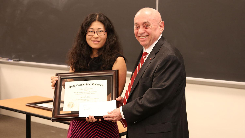 Dr. Louis Martin-Vega and Dr. Min Chi
