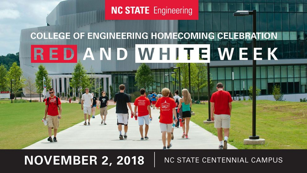 College of Engineering Homecoming Celebration, Red and White Week, 11/2/18, Centennial Campus