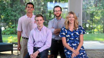 Young Alumni Advisory Board: Jacob Bowes, Sam Wurst, Joseph Silvers and Laura Geary