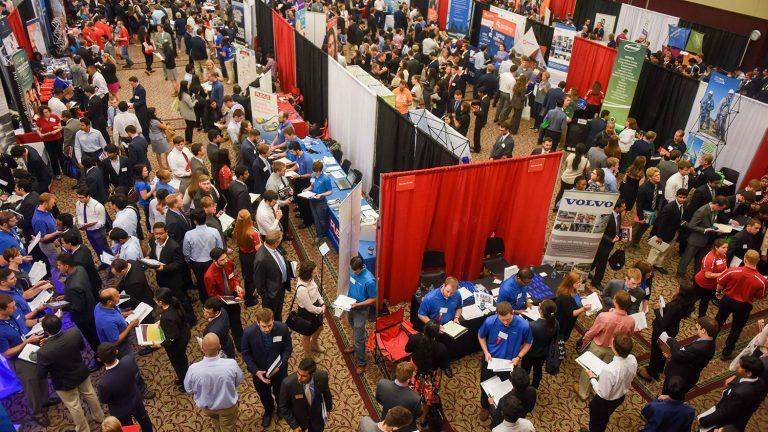 Crowd at NC State Engineering Career Fair