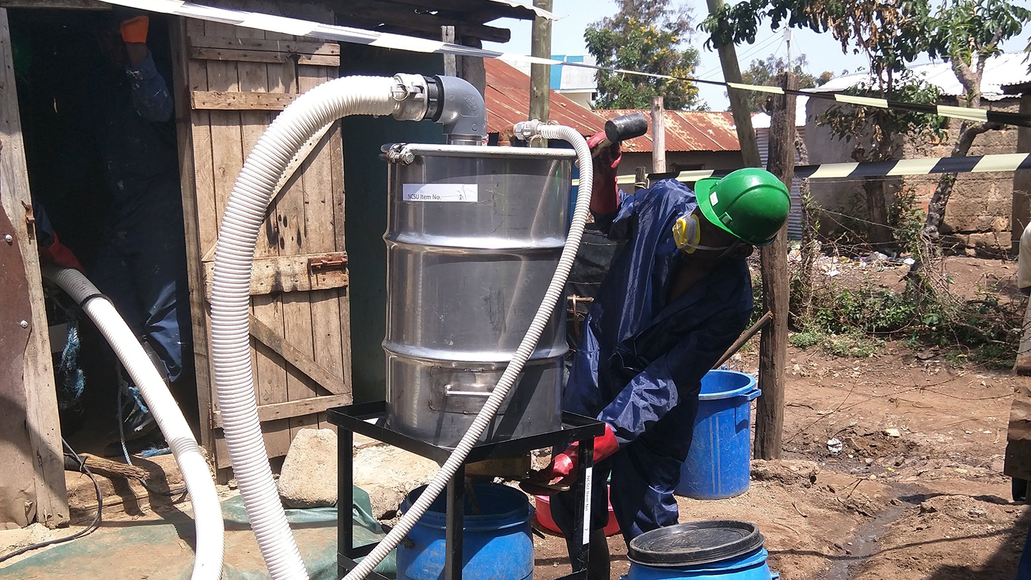 The Flexcrevator, a pit latrine emptying device designed by NC State researchers.
