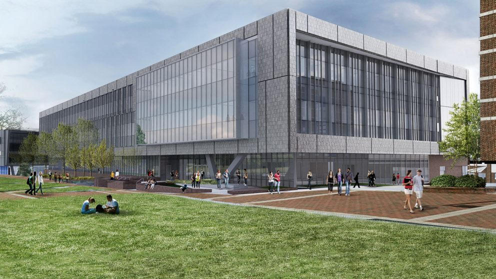 Exterior rendering of Fitts-Woolard Hall