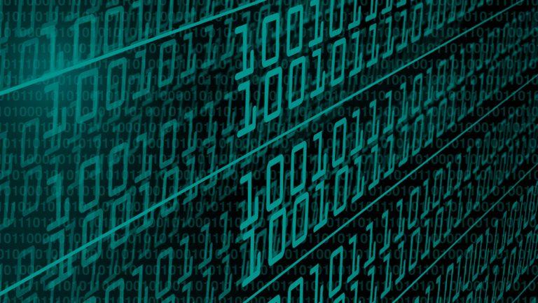 Graphic art: binary code