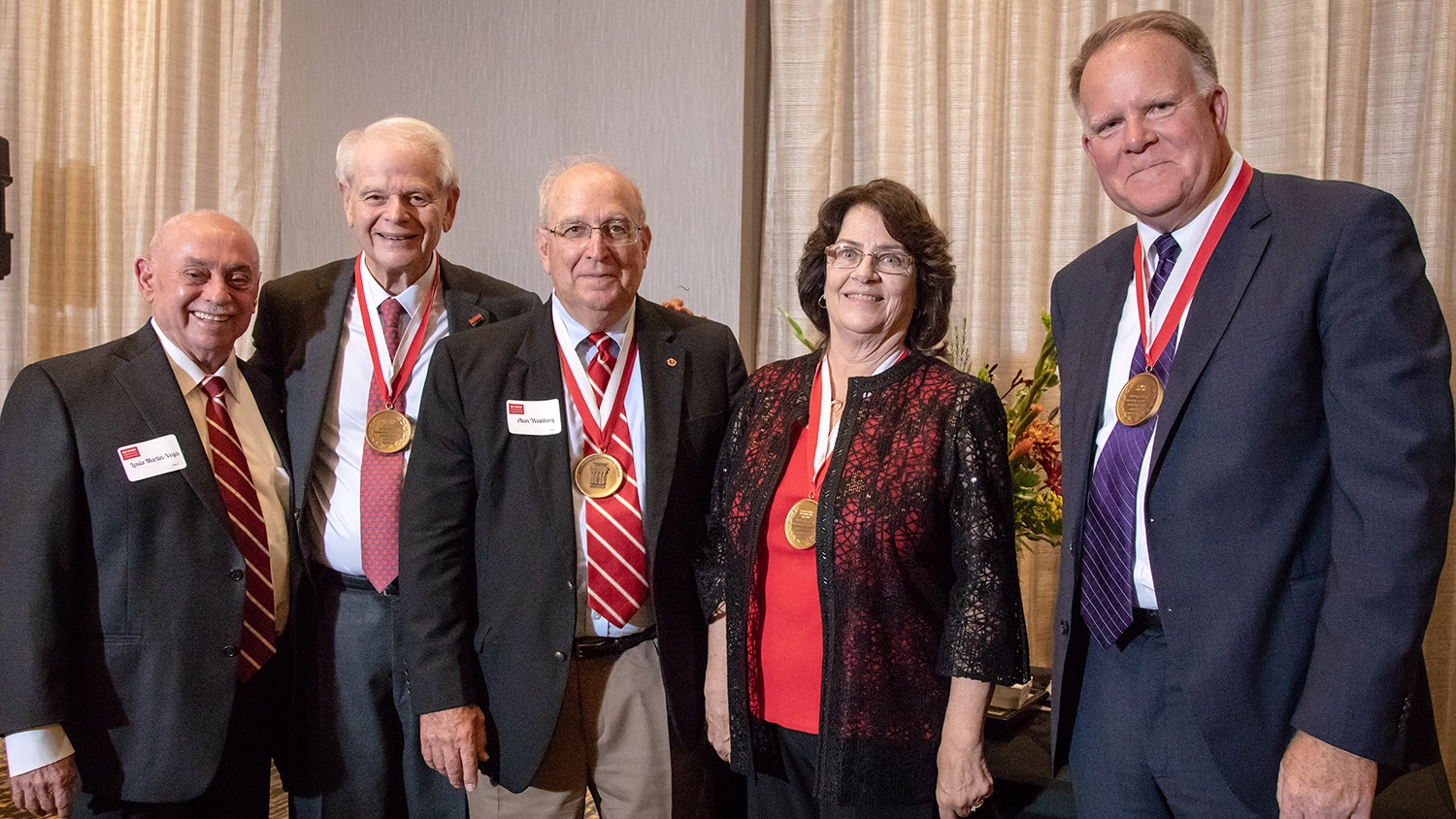 The College of Engineering at North Carolina State University bestowed the Distinguished Engineering Alumnus award on Suzanne Gordon, Peter Lehrer, Gil West, and Alan Weinberg.