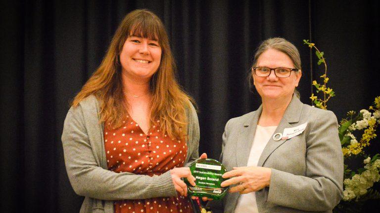 Meghan Boland receives 2019 Sustainability Award.