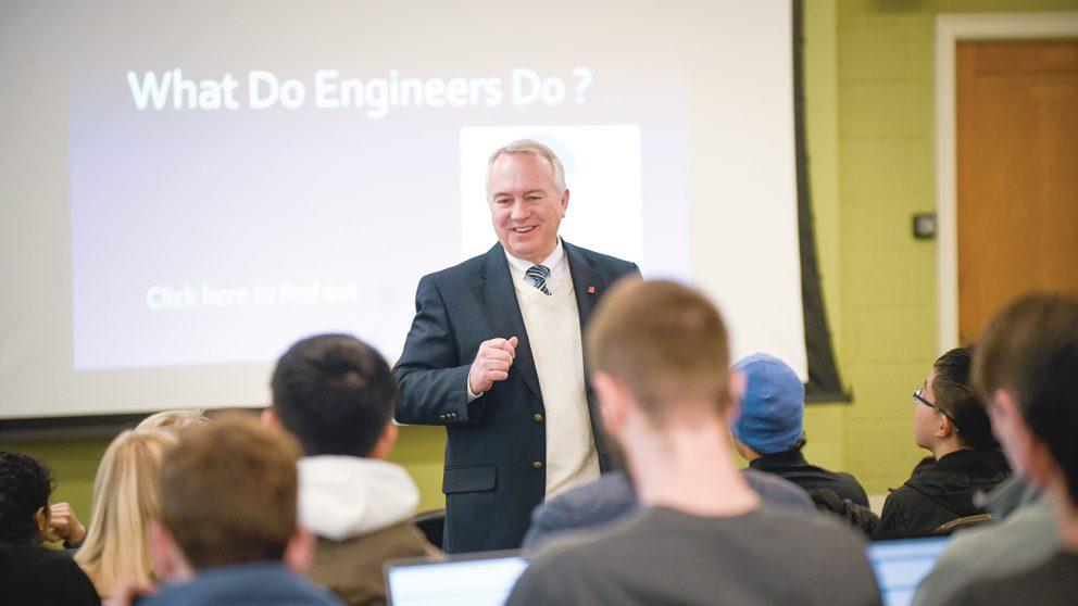 Dr. David Parish and class