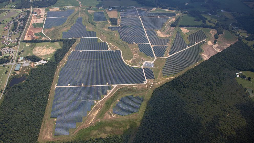 Solar farm in Monroe, N.C., built by Strata Solar