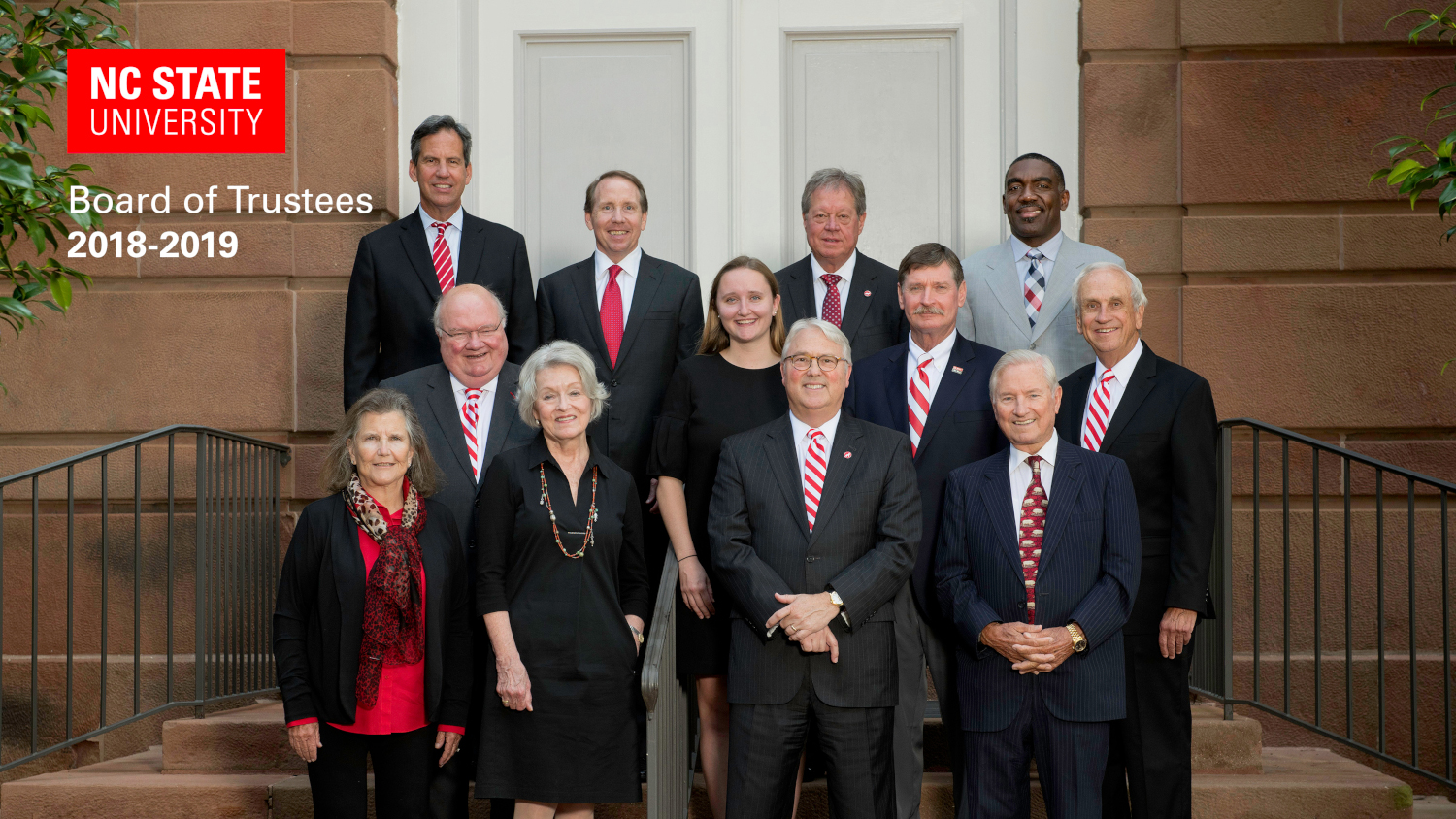 NC State Board of Trustees for 2018-19 with Chancellor