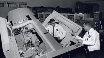 Gemini trainer Jim Prim and George Prude