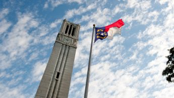 Belltower and NC Flag