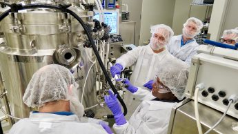 Trainees learn about changeover at a BTEC upstream bioprocessing course.
