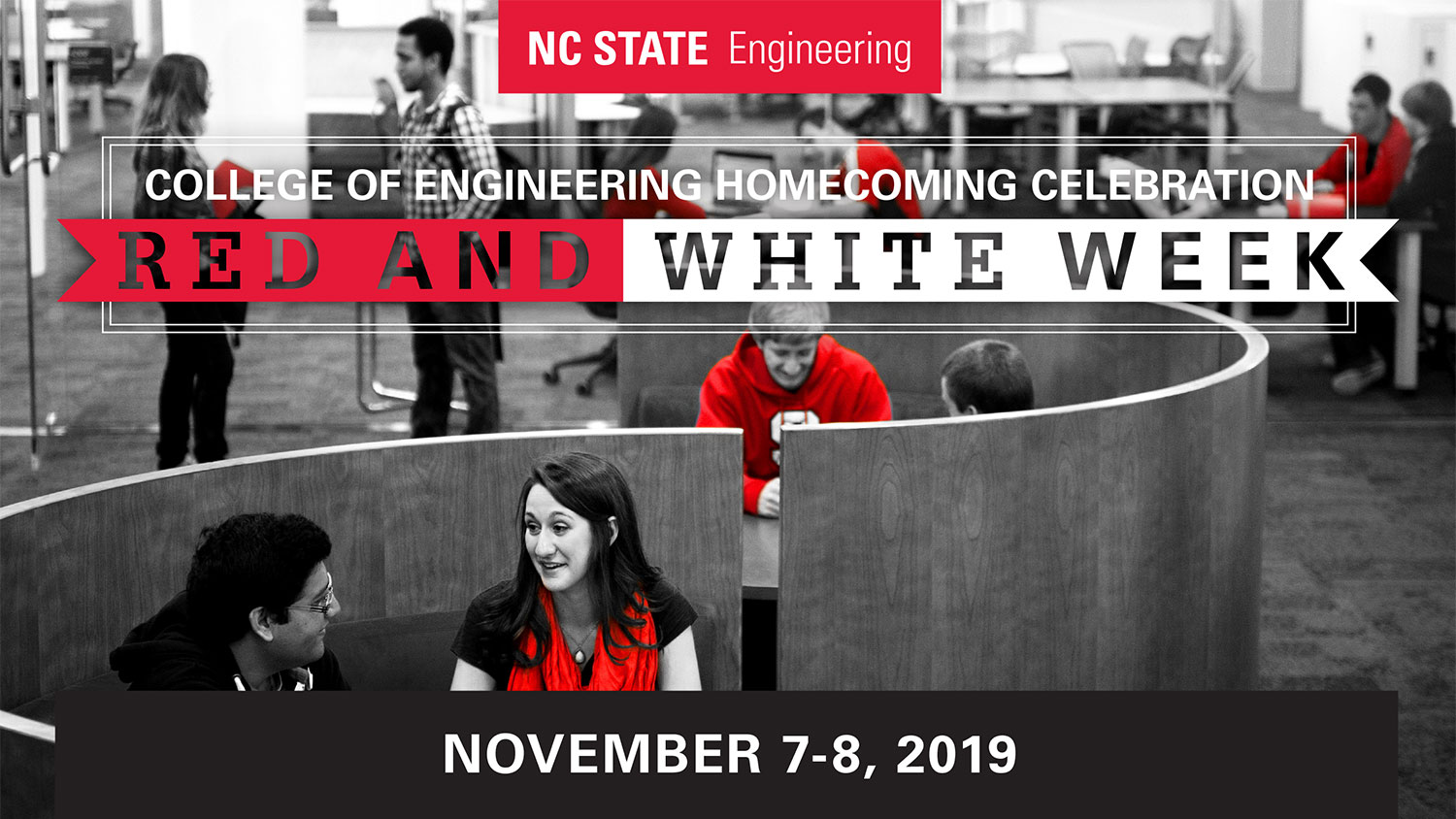 College of Engineering Homecoming Celebration, November 7-8, 2019, Red and White Week