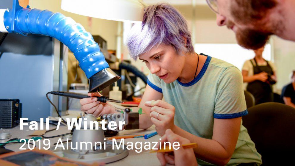 Cover of Fall/Winter 2019 Alumni magazine