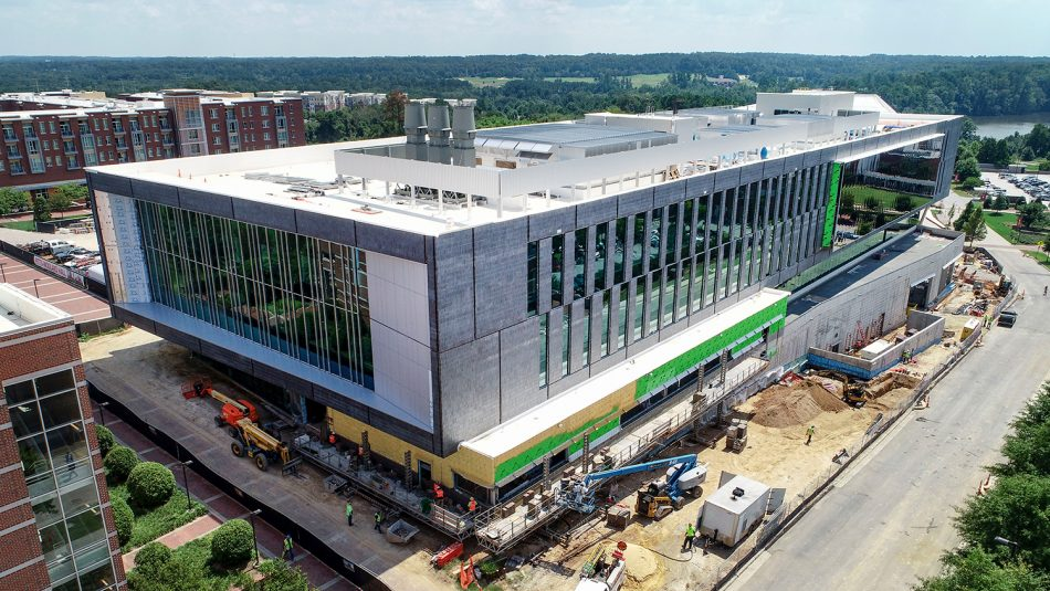 Fitts-Woolard Hall Aerial Shot (www.skysiteimages.com, 8/2019)