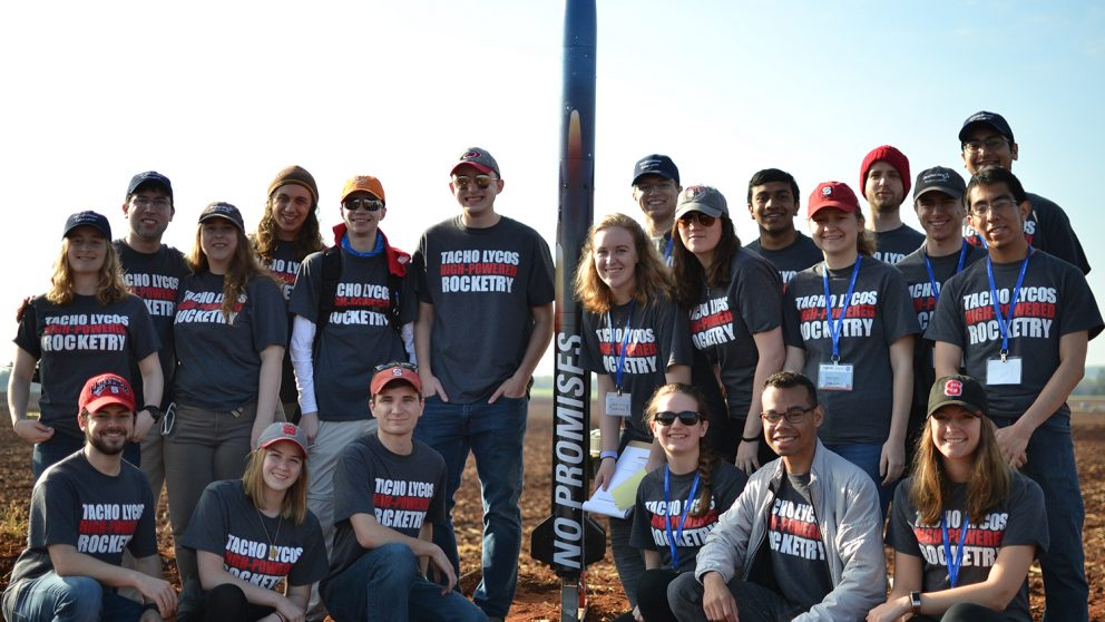 high-powdered rocketry club pre-launch team