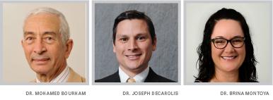Dr. Bourham, DeCarolis, and Montoya