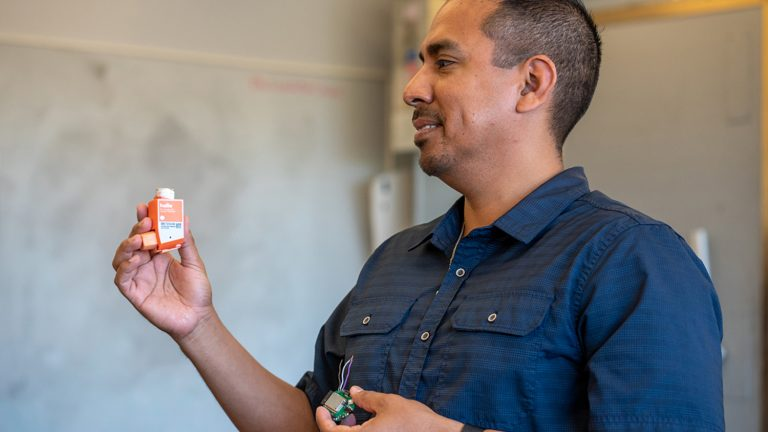 Edgar Lobaton, Associate Professor, NC State. Lobaton's research focus areas include robotics, computational intelligence, and communications and signal processing.