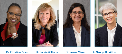 Drs. Christine Grant, Laurie Williams, Veena Misra and Nancy Allbritton