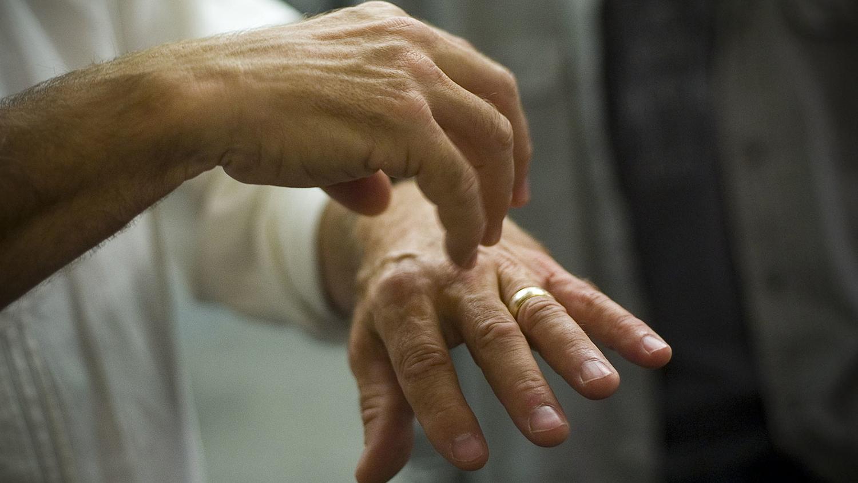 an older man's hands