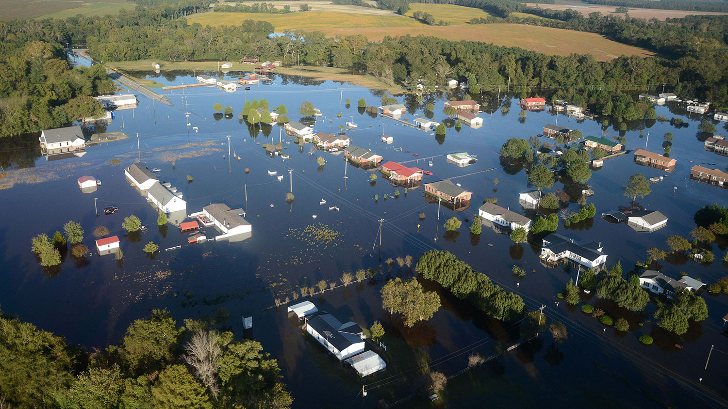 2016 flooded homes in Princeville, NC