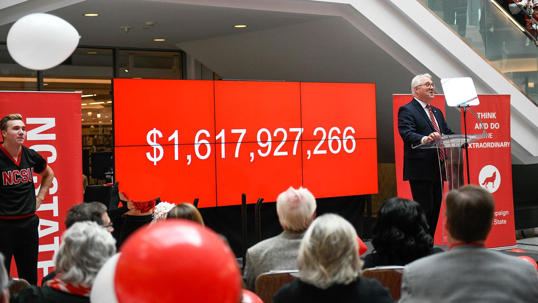 campaign goal of $1.6 billion