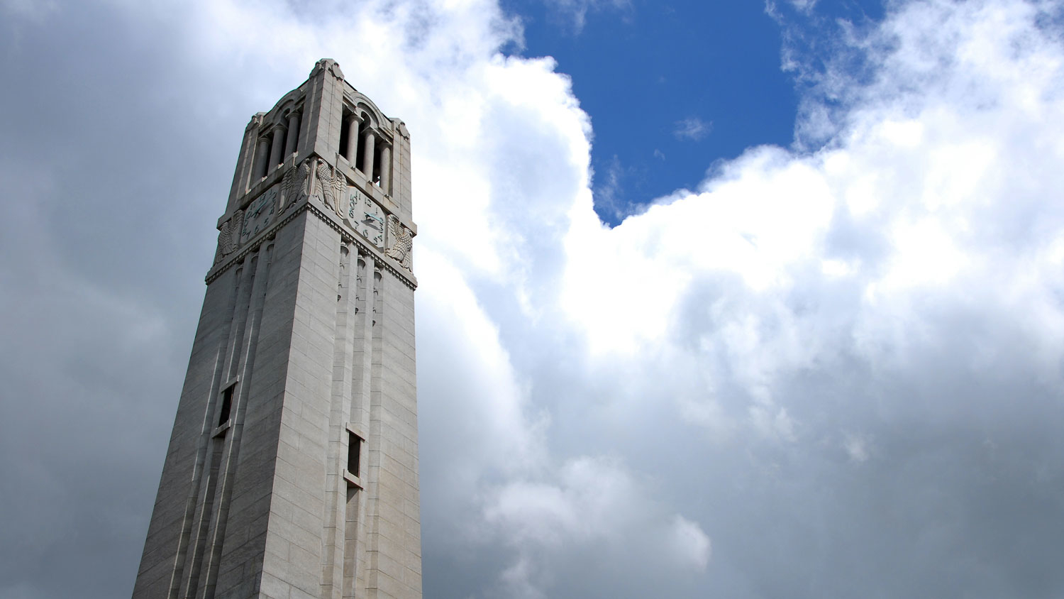 The belltower on a cloudy day