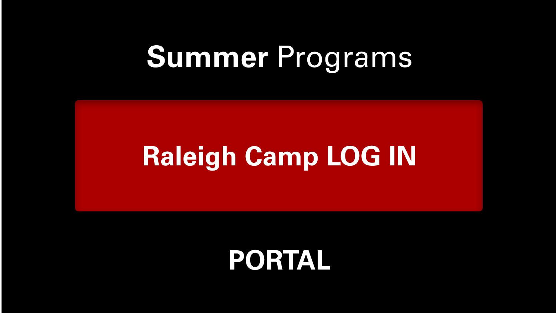 Summer Programs Portal: Raleigh Camp Log In