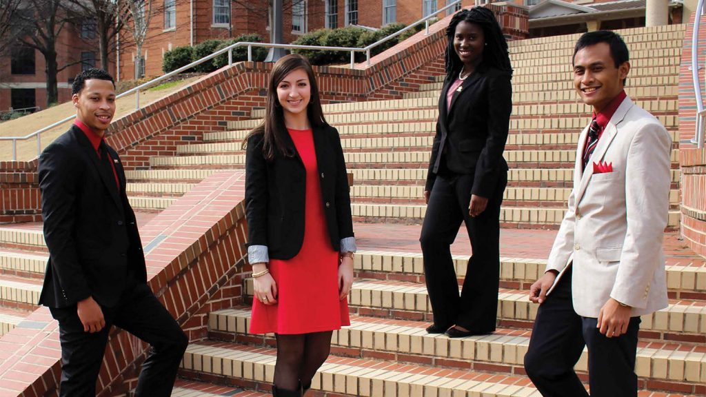 Students dress for success at the Engineering Career Fair.