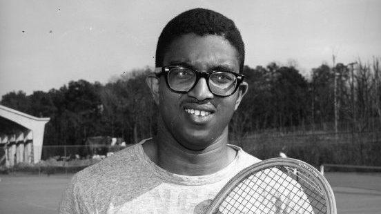 Irwin Holmes on the tennis court.